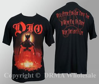 Authentic DIO Band Last in Line T Shirt S M L XL Ronnie James NEW