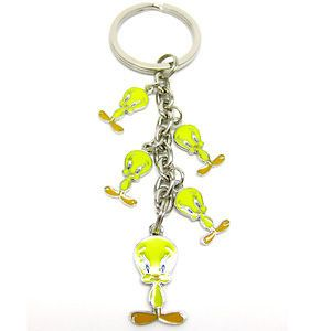 Loony Toons Tweety Bird Dangle Key Ring key chain