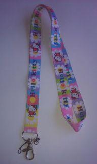 Hello Kitty Neck Lanyard badge ID card holder & Disney trading pins