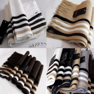 Mens Fashion Design Winter Warm Scarf mixed Colors Scarves Striped