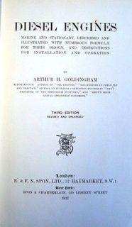 DIESEL ENGINES MARINE & STATIONARY 1927 BOOK B&W MAN