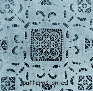 Newly listed Antique Italian lace cutwork hand Embroidery designs cd