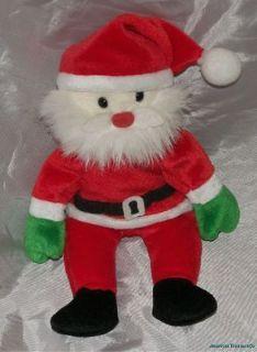 Rare Ty Handmade Original Beanie Babies 9 Plush Holiday SANTA CLAUS