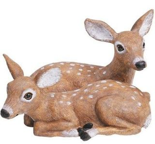 Laying Fawn Animal Garden Statue Outdoor Lawn Decor