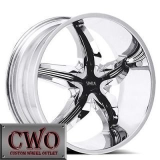 22 Chrome Status Dystany Wheels Rims 5x114.3/5x4.75 5 Lug Maxima