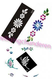 Body Art Airbrush Painting Sheets Stencils Kit u choose designes