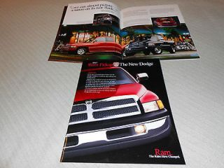 1997 DODGE RAM PICKUP TRUCK BIG, 40 Page PRESTIGE BROCHURE, SALES