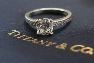 Tiffany & Co PLAT Novo Diamond Engagement Ring I VVS2 1.19CT