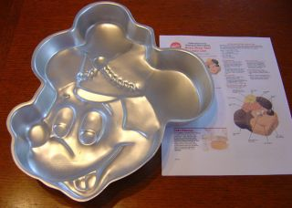 Wilton Cake Pan Disney Mickey Mouse Face Band Leader + Instructions
