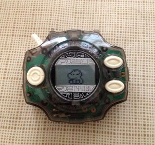 BANDAI DIGIMON MONSTERS TAMAGOTCHI DIGIVICE 2.0 TRANSPARENT BLACK GAME
