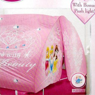 Disney Princess Cinderella Bed Topper Tent W/ Pushlight