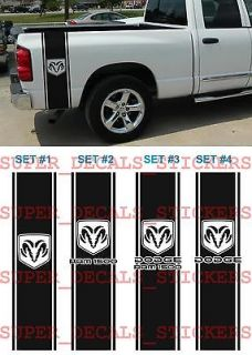 Dodge Ram 1500 LOGO RAM Bed 2 STRIPE KIT Truck VINYL Decal Sticker
