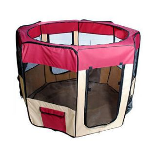 listed New 57 / 58  Dog Red Pet Puppy Kennel Exercise Pen Playpen