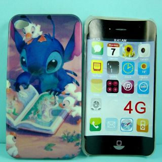 LOVELY Disney Lilo & Stitch Reading Hard Cover Case for iPhone 4 4G 4S