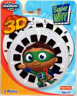 VIEW MASTER SUPER WHY x3 REELS 3D PBS kids Whyatt NEW