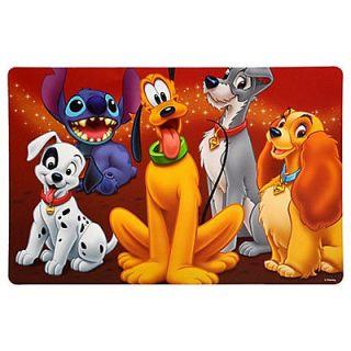 Disney World Pet Dogs Food Placemat Pluto Stitch Lady Dalmations NEW