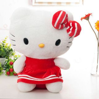 Sanrio Red Dress Bowtie Hello Kitty Cat Plush Toy Doll 15 Brand New