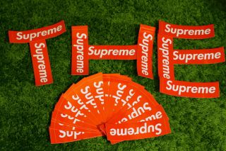 Supreme Shiny Red Box logo Sticker Safari Zebra Leopard