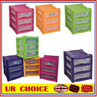 Shallow 3 Drawer Plastic Storage Unit For Office A4 Paper Organizer