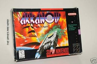 Arkanoid: Doh It Again (Super Nintendo) COMPLETE