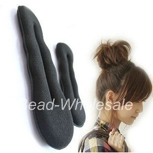 Korean Style Fashion Hair Accessory Black Sponge Twist Bun For Making