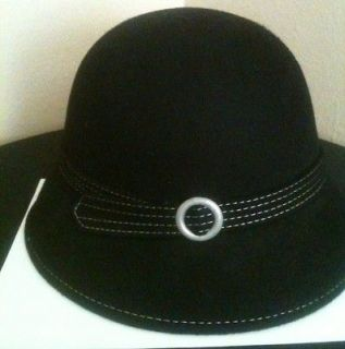 Dressy Black Ladies Hat Classy With Silver Accent.