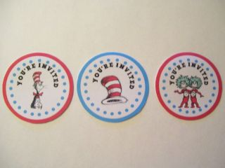 Dr Seuss  The Cat in the Hat Birthday Party or Baby Shower Envelope