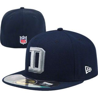 New Era 59FIFTY DALLAS COWBOYS D Official Cap NFL Fitted Hat Navy 5950