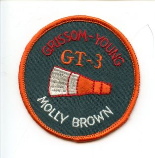 NASA Gemini GT3 Molly Brown Flight Embroid ered Fabric Astronaut Crew