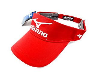 NEW Mizuno Tour Series Luke Donald RED Adjustable Visor/Hat/Cap