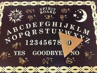 New `Large Size  Ouija Board  Black & Gold   Spirit Board  Ouiji