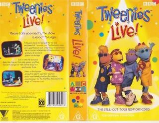TWEENIES LIVE VHS PAL VIDEO A RARE FIND