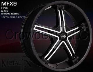 Metal FX Car Wheel/Rim MFX9 Black 22 inch 5 Lug