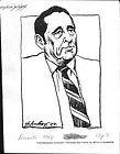 1984 Jose Napoleon Duarte   Pres. of El Salvador Sketches 3 Press