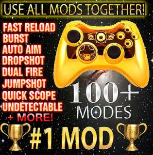 Gold Xbox 360 Brand New 100 Mode Quick Scope Modded Controller Best