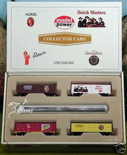 Set of Dutch Masters Cigar Train Box Cars N Scale 1160 by Model Power