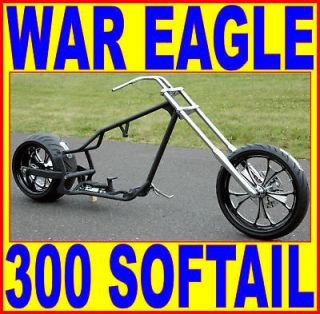 WAR EAGLE TALL DROP SEAT CHOPPER 300 REAR TIRE SOFTAIL FRAME ROLLING