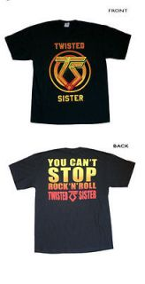 Twisted Sister   You cant Stop Rock N Roll T Shirt