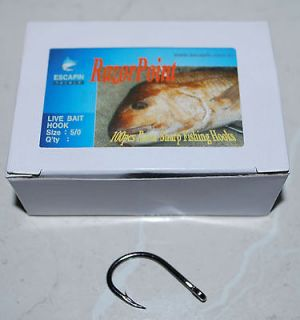 BULK 9/0 Live Bait Hooks. Box of 100. Kingfish / Tuna
