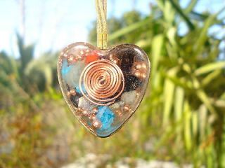 HEART ORGONE GENERATOR PENDANT EMF PROTECTION AND MINERALS