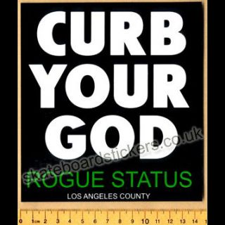 Rogue Status Skateboard MX Sticker Rob Dyrdek New Skate