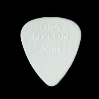72 Bulk Dunlop Standard Nylon Guitar Picks .38MM Gauge