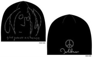 John Lennon Give Peace A Chance Beanie Hat   New & Official With Tag