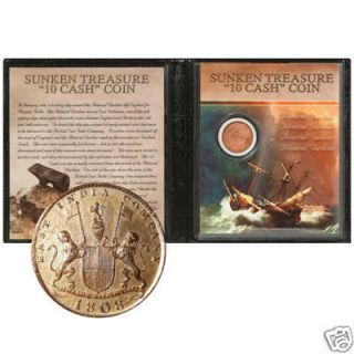 1808 Sunken Treasure Coin Admiral Gardner Shipwreck   Colorful display