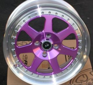 ROTA J MAG 16X7 4X100 E40 67.1 ROYAL PURPLE RIM WHEEL