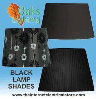 Oaks Lighting Black Cotton Lamp Shades Decorative 5 8 10 12 14 16 20