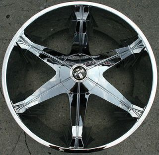 DUB BIG HOMIE 3 26 CHROME RIMS WHEELS GMC YUKON 07 up / 26 X 9.5 6H