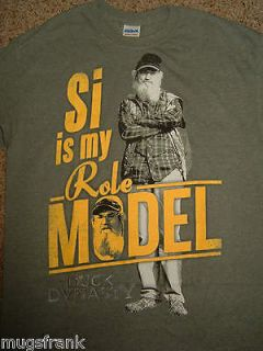 Duck Dynasty Si Is My Role Model Tv Show A&E Green T Shirt