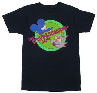 Itchy And Scratchy   Simpsons Sheer T shirt