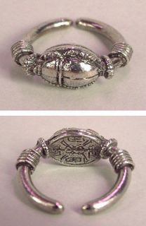 Egyptian Scarab Ring in Fine English Pewter